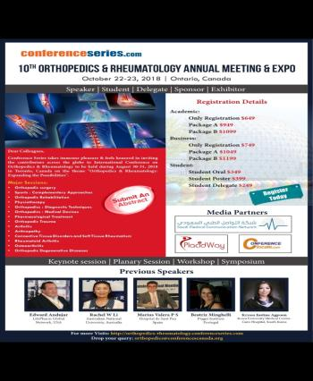 10th Orthopedics and Rheumatology Annual Meeting and Expo 2018 - Special offer for Saudi-mcn